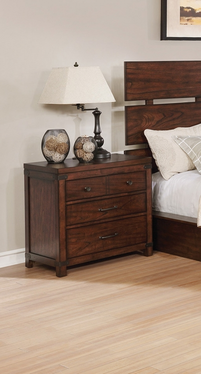 Artesia 3 Drawer Nightstand - Dark Cocoa