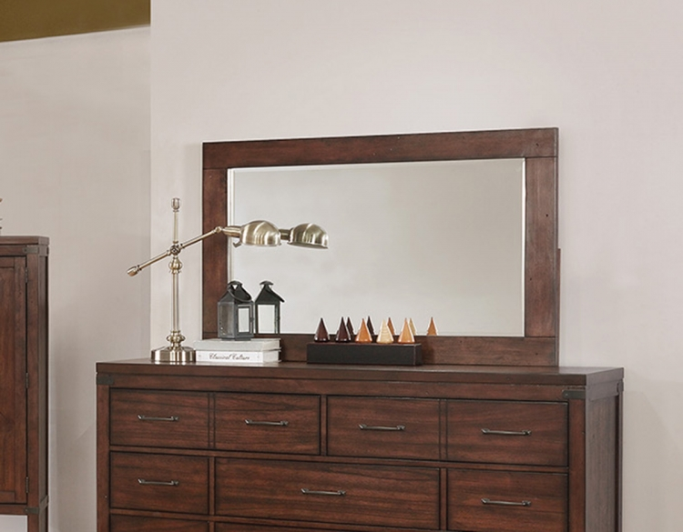 Artesia Mirror for 10 Drawer Dresser - Dark Cocoa