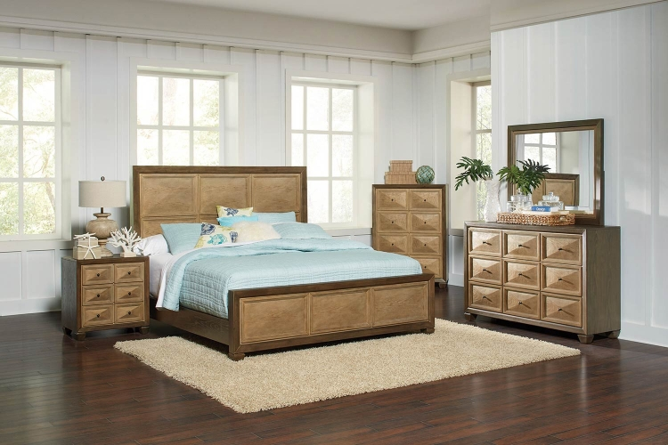 Wheatland Bedroom Set - Wire Brush sage/Antique Gold