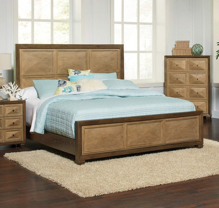 Wheatland Bed - Wire Brush sage/Antique Gold