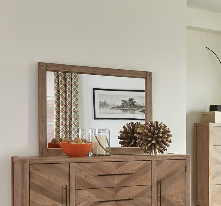 Auburn Mirror - White Washed Natural