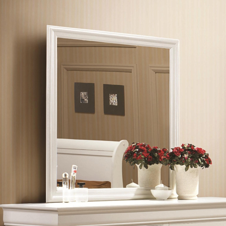 Louis Philippe Mirror - White