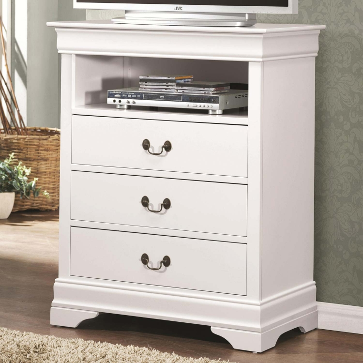 Louis Philippe Media Chest - White