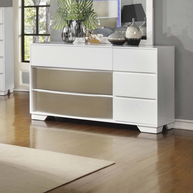 Havering Dresser - Blanco/Sterling
