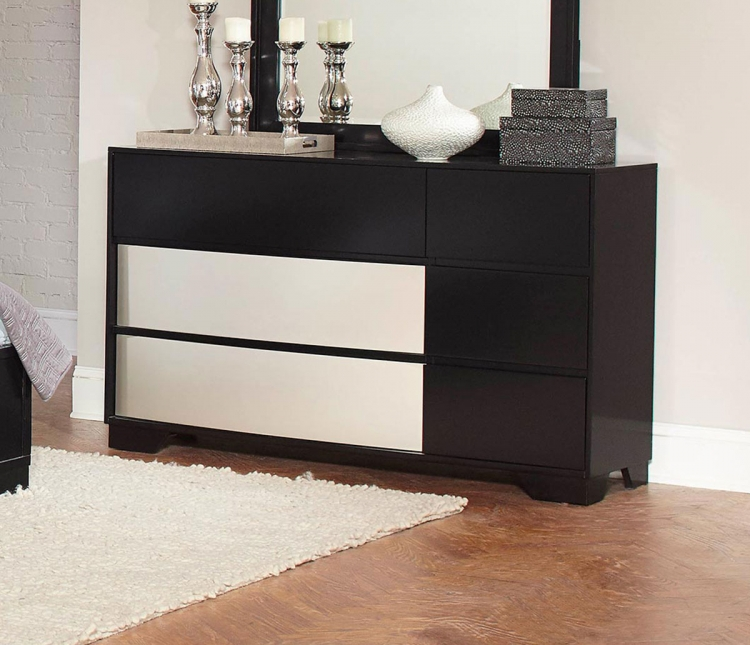 Havering Dresser - Black/Sterling