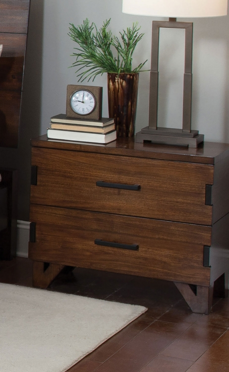 Yorkshire Nightstand - Dark Amber/Coffee Bean
