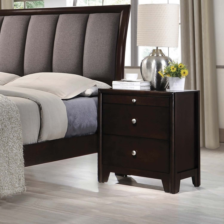 Madison Nightstand - Dark Merlot