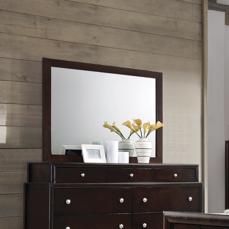 Madison Mirror - Dark Merlot