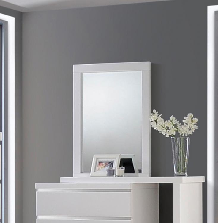 Coaster Alessandro Mirror - Glossy White