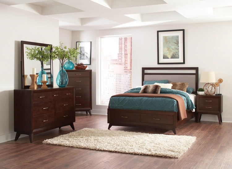 Carrington Bedroom Set - Coffee