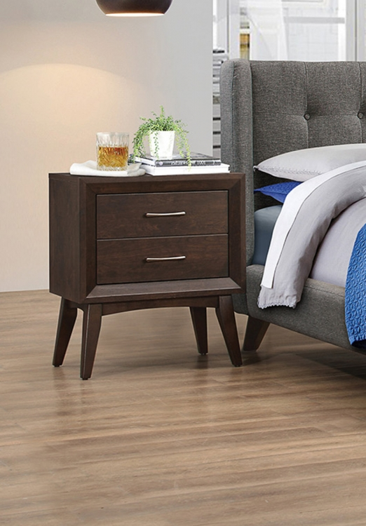 Carrington Nightstand - Coffee