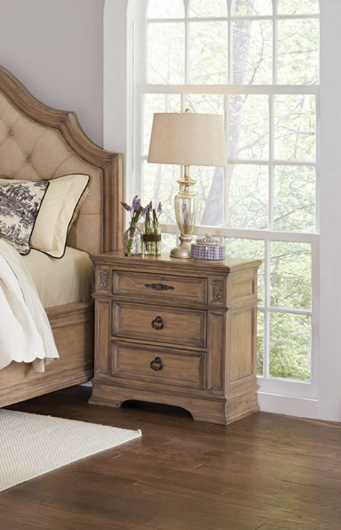 Ilana Nightstand - Antique Linen