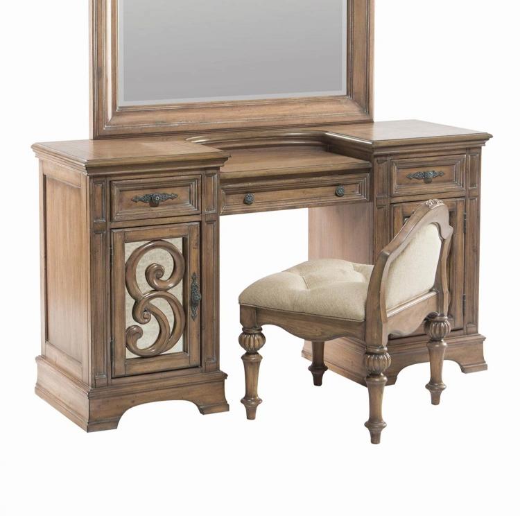 Ilana Vanity Desk - Antique Linen