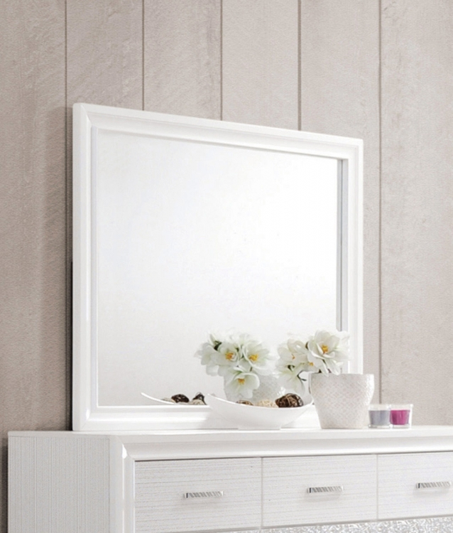Coaster Miranda Mirror - White