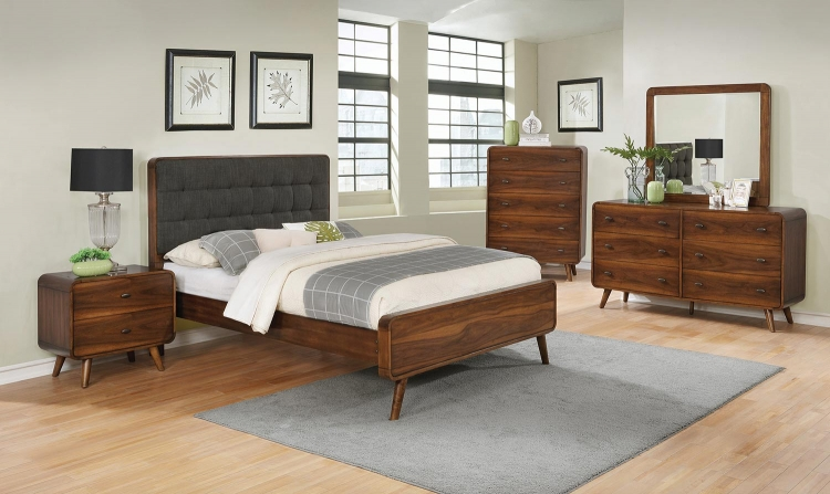 Robyn Bedroom Set - Dark Walnut