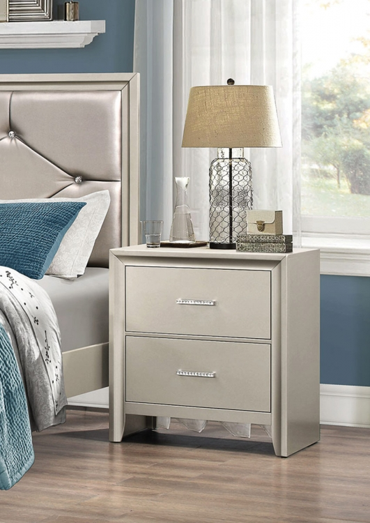 Lana Nightstand - Silver