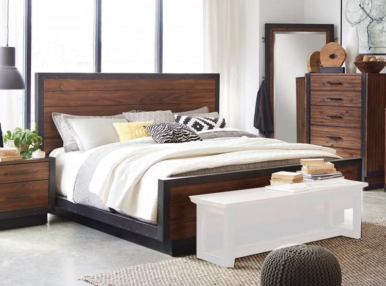 Ellison Platform Bed - Bourbon Brown