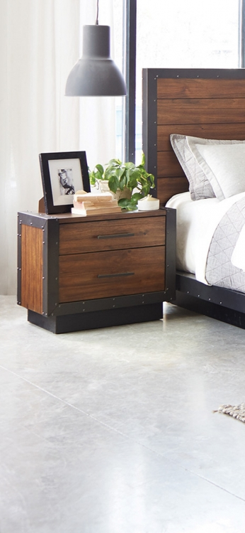 Ellison Nightstand - Bourbon Brown