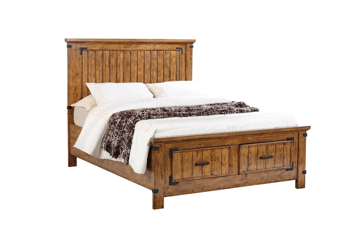 Brenner Platform Storage Bed - Rustic Honey