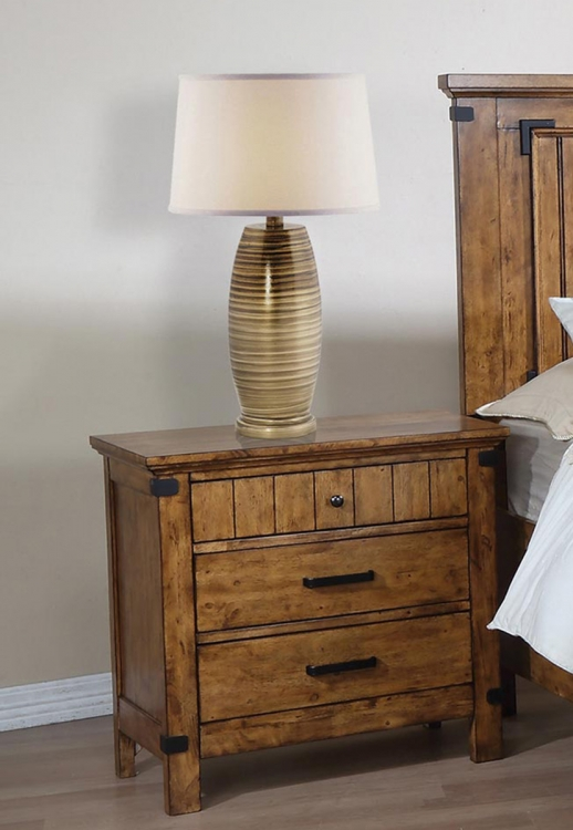 Brenner Nightstand - Rustic Honey