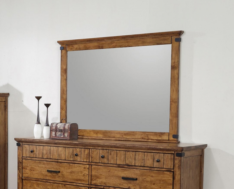 Coaster Brenner Mirror - Rustic Honey
