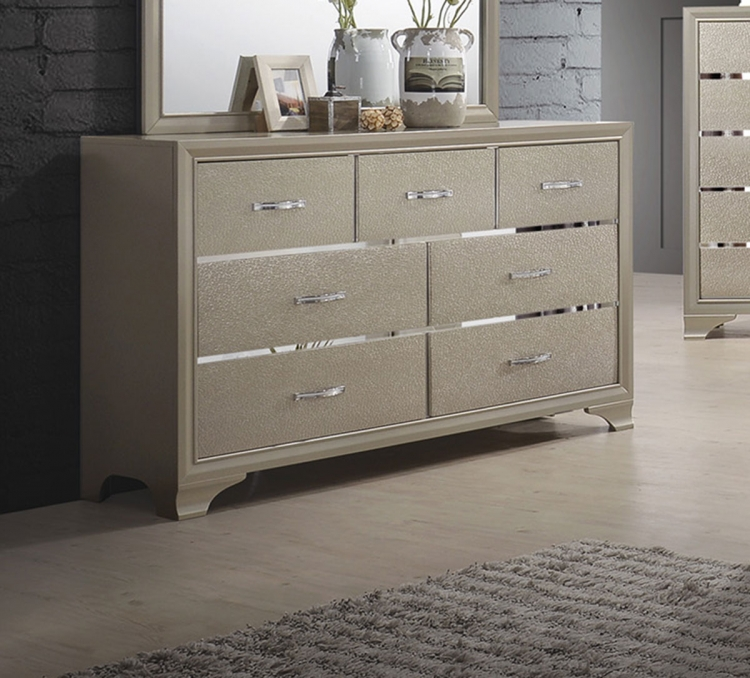 Beaumont Dresser - Champagne Gold Leatherette