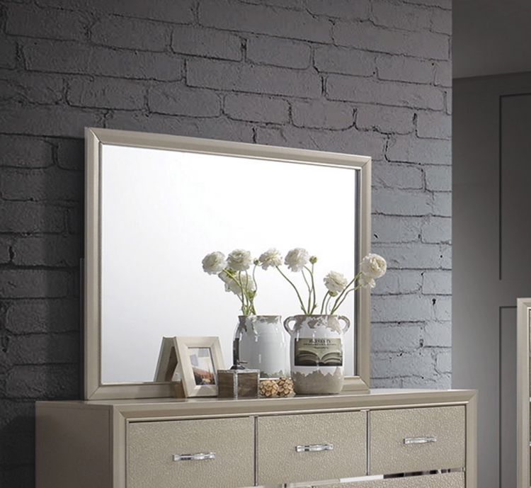 Beaumont Mirror - Champagne Gold Leatherette