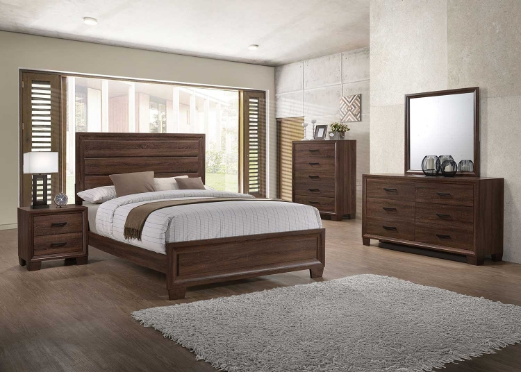 Brandon Bedroom Collection - Medium Warm Brown