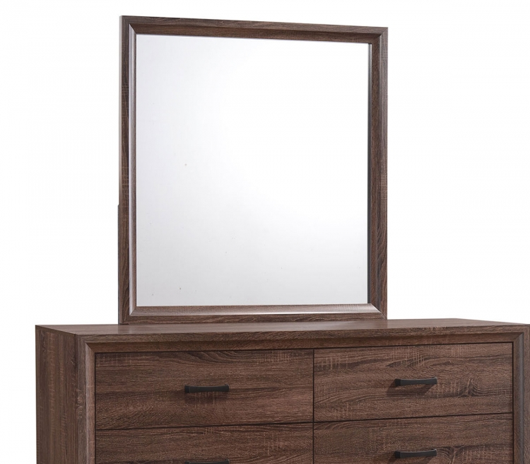 Brandon Mirror - Medium Warm Brown
