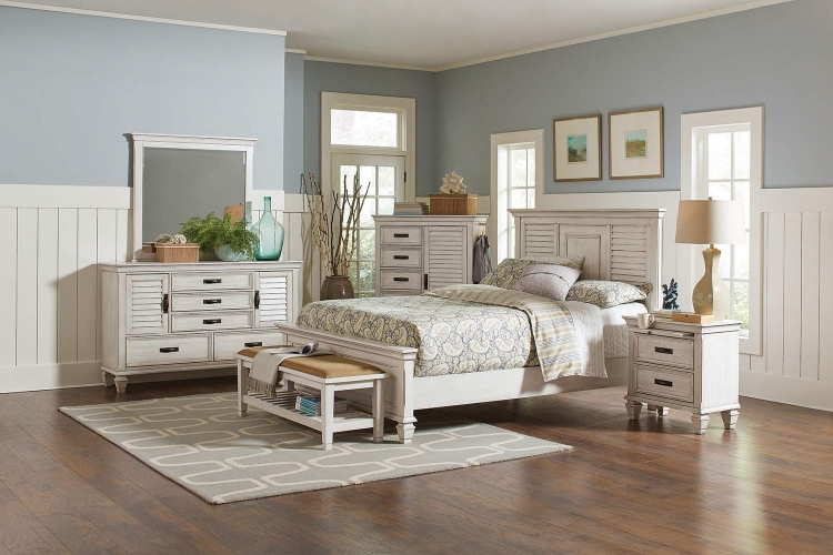 Liza Bedroom Collection - Antique White