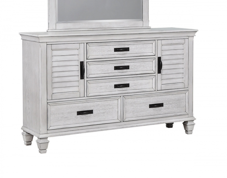 Liza Dresser with Doors - Antique White
