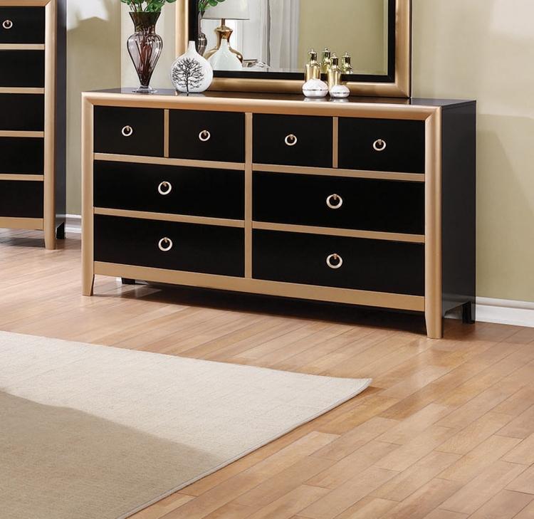 Zovatto Dresser - Black/Gold