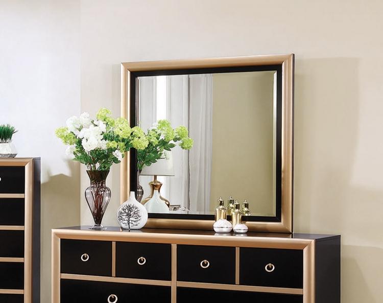 Zovatto Mirror - Black/Gold