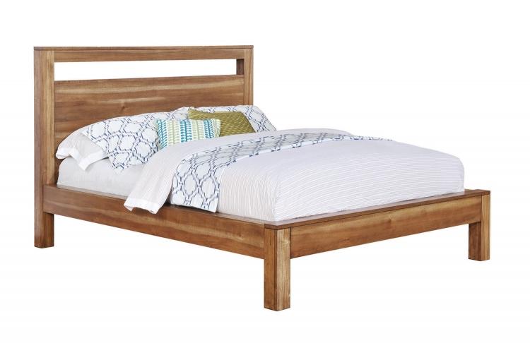 Ethan Platform Bed - Natural Brown