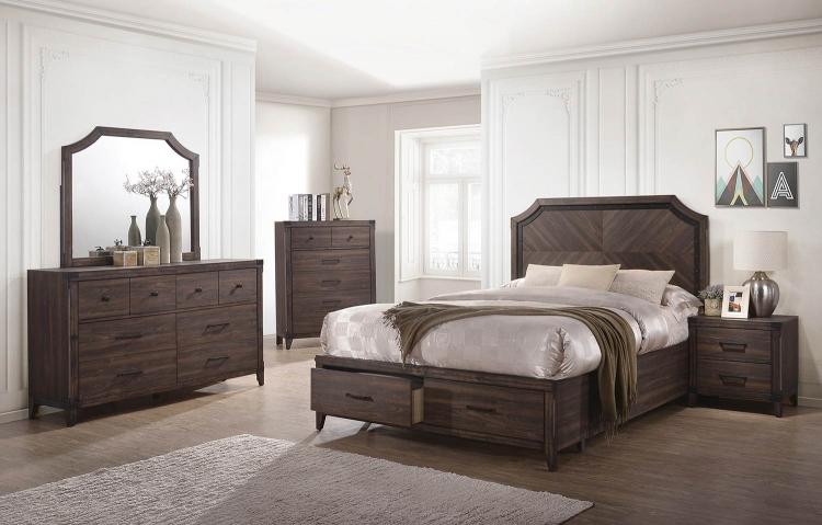 Richmond Bedroom Set - Dark Grey Oak