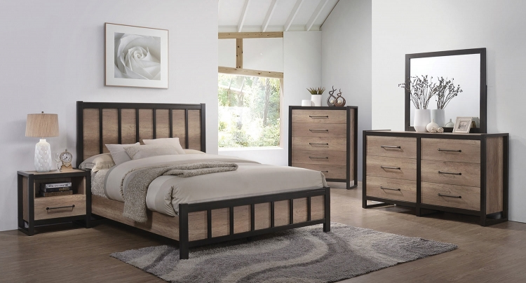 Edgewater Bedroom Set - Weathered Oak
