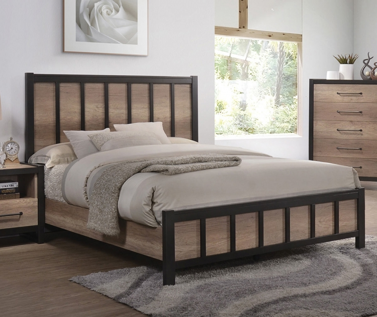 Edgewater Bed - Weathered Oak