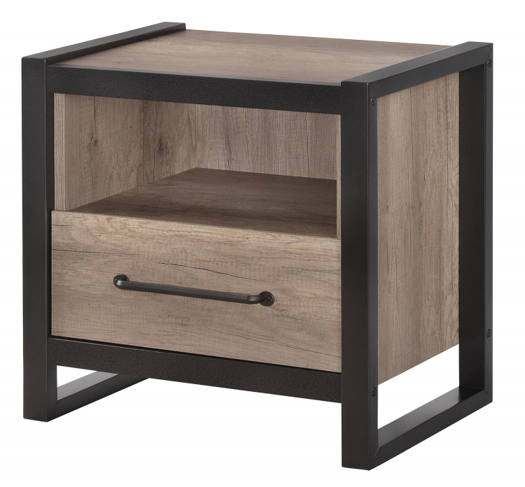 Edgewater Nightstand - Weathered Oak