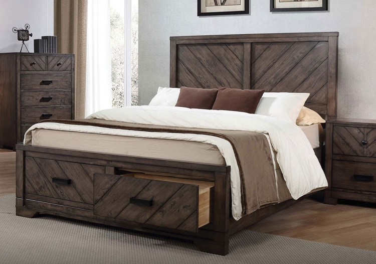 Lawndale Bed - Dark Brown