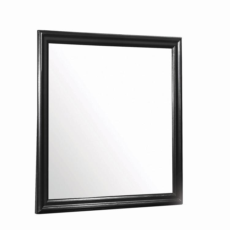 Louis Philippe Mirror - Black