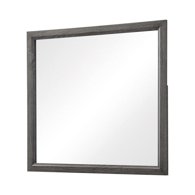 Watson Mirror - Grey Oak/Black