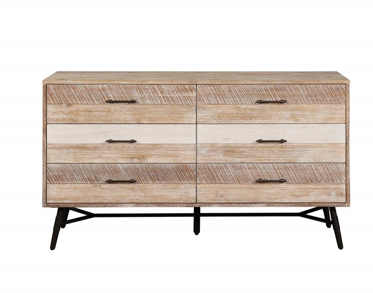 Marlow Dresser - Rough Sawn Multi/Black Finish