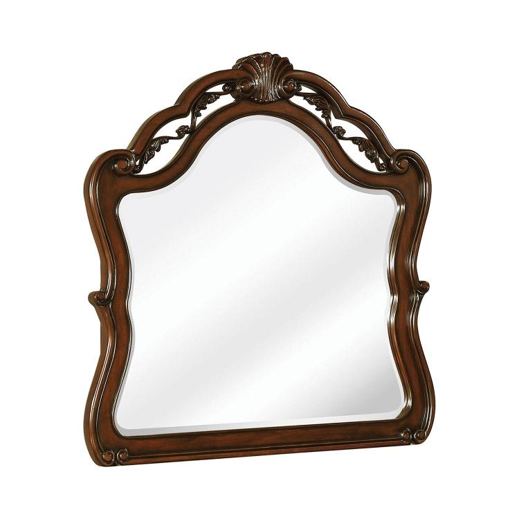 Exeter Mirror - Dark Burl