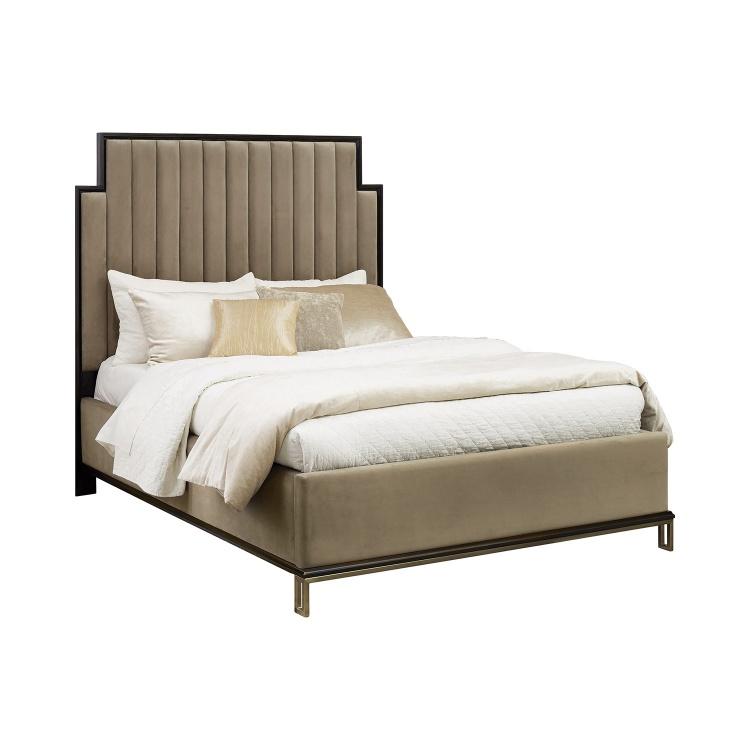 Formosa Bed - Americano/Camel Velvet
