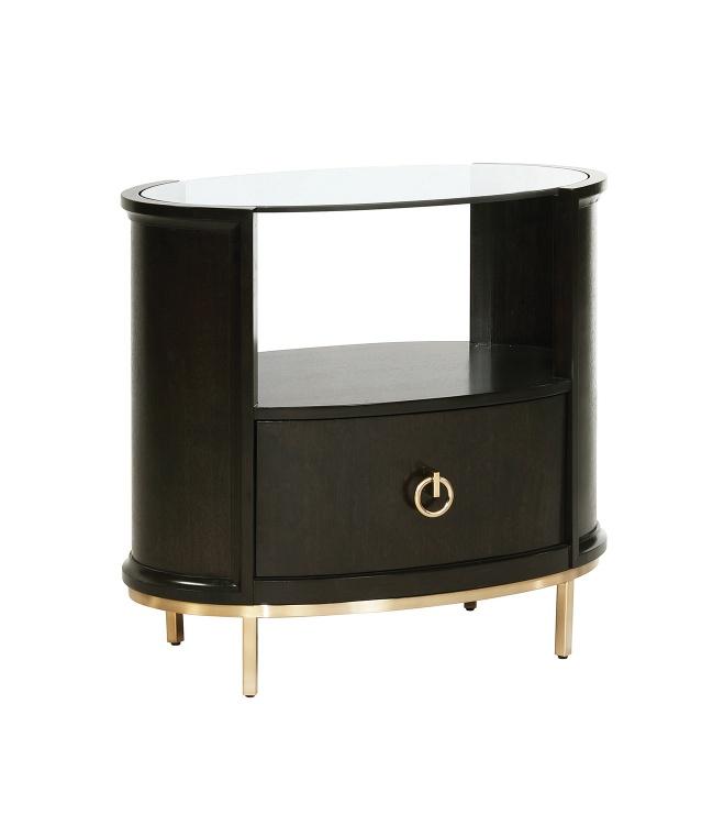 Formosa Oval Nightstand - Americano