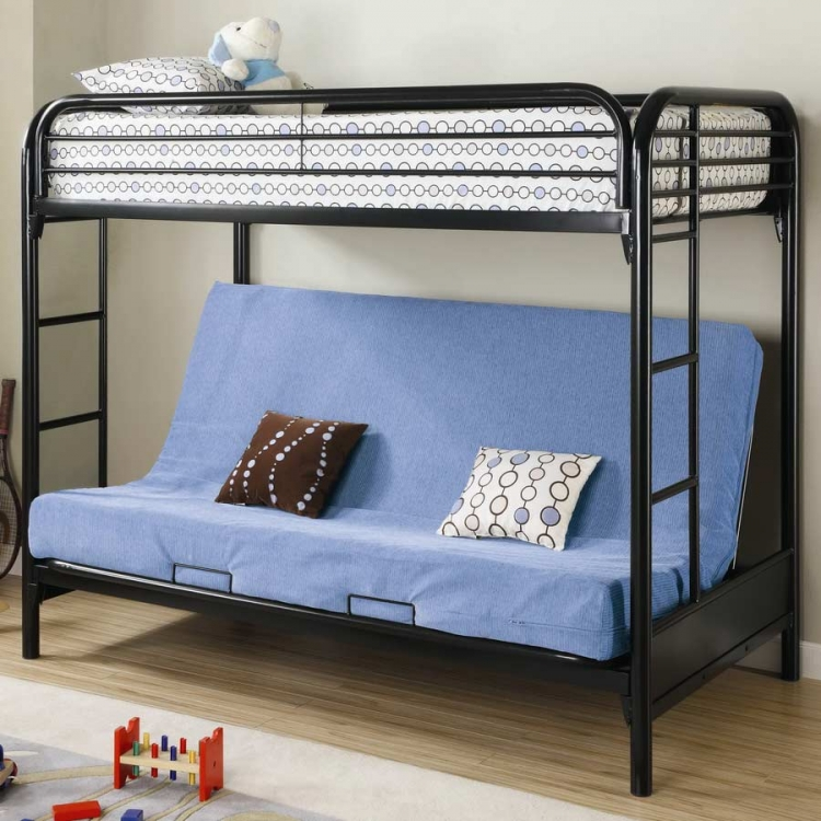 2250K Twin-Futon Bunk Bed - Black - Coaster
