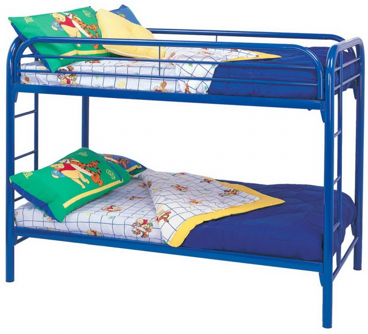 2256B Twin-Twin Bunk Bed - Blue - Coaster