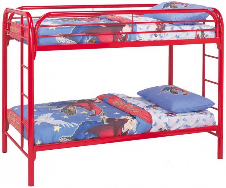 2256R Twin-Twin Bunk Bed - Red