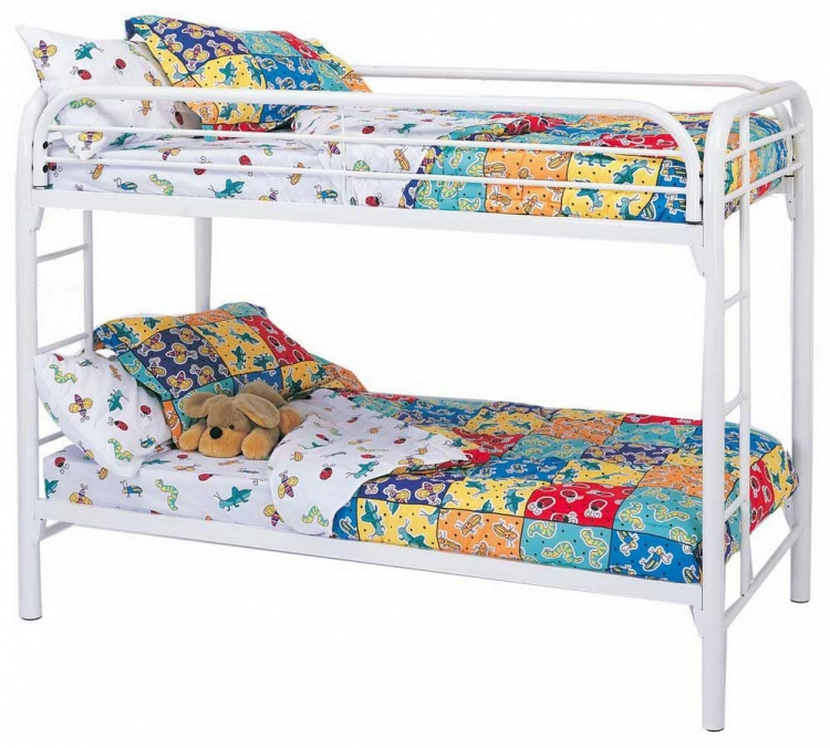 2256W Twin-Twin Bunk Bed - White - Coaster