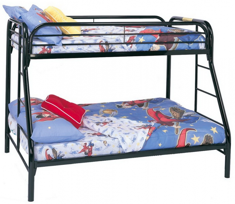 2258K Twin-Full Bunk Bed - Black